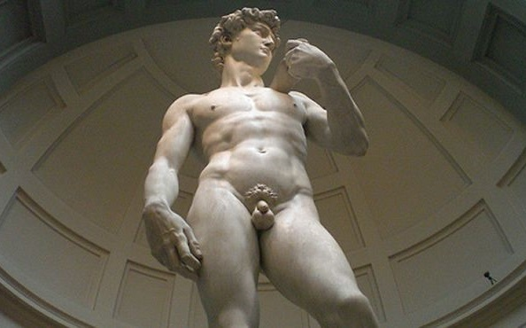 Statue of David Tour in Florence